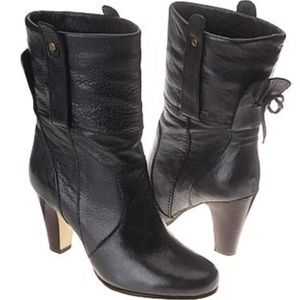 Dolce Vita Webber Cuffed Black Leather Boots